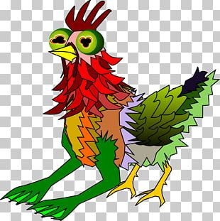 Rooster Character Cartoon PNG