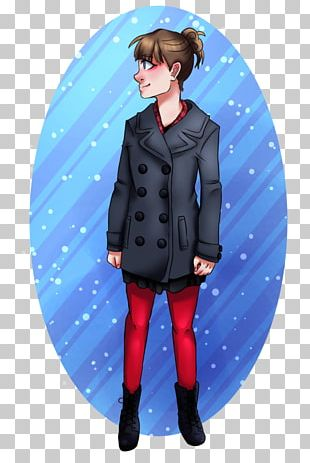 Outerwear Character Fiction Electric Blue PNG