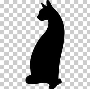 New Hampshire Silhouette Cat Stencil PNG