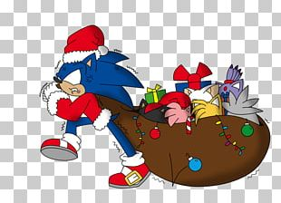 Sonic The Hedgehog Santa Claus Tails Sonic Chaos Knuckles The Echidna PNG