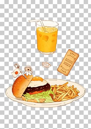 Hamburger Toast French Fries Junk Food Chicken Sandwich PNG