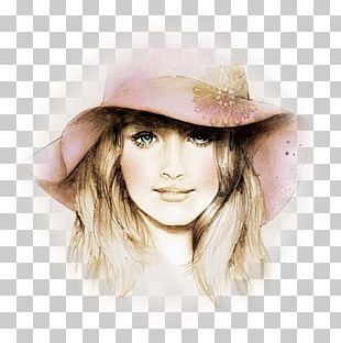 Colored Pencil Drawing Portrait Sketch PNG