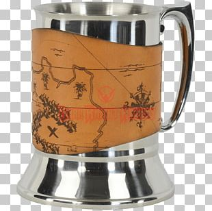 Tankard Mug Pewter Coffee Cup Leather PNG