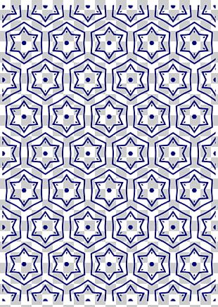 Paper Cobalt Blue Circle Pattern PNG