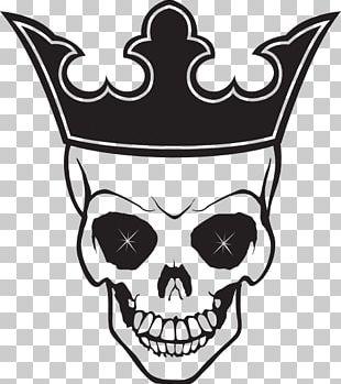 Human Skull Symbolism Crown Logo PNG