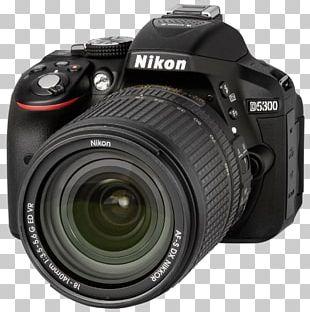Digital SLR Camera Lens Nikon D5300 Black SLR Digital Camera 2.3 KG Single-lens Reflex Camera AF-S DX Nikkor 18-105mm F/3.5-5.6G ED VR PNG