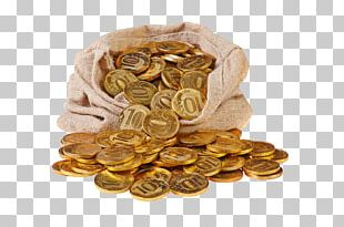 Bag Gold Coin Stock Photography Canvas PNG