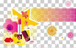 Cosmetics Lipstick Eyelash PNG