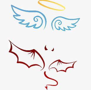 Angel Devil Sign Material PNG