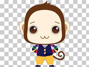 Monkey Cartoon Cuteness PNG