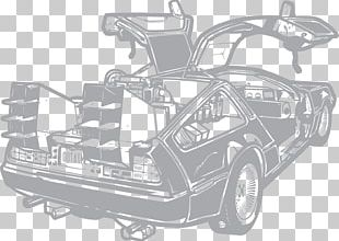Car DeLorean DMC-12 Drawing Back To The Future DeLorean Time Machine PNG