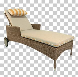 Chaise Longue Chair Couch Sunlounger Wicker PNG