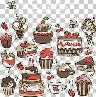 Ice Cream Cupcake Birthday Cake Bakery Petit Four PNG