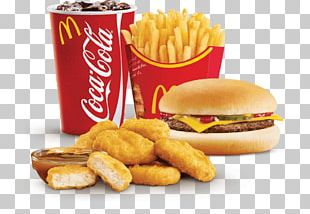 McDonald's Chicken McNuggets Fizzy Drinks McDonald's Big Mac Hamburger Coca-Cola PNG