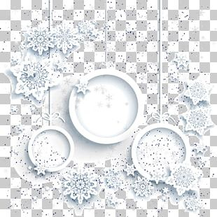 Christmas Card Snowflake White Christmas PNG