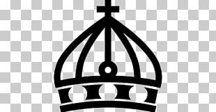 Cross And Crown Graphic Design Symbol PNG