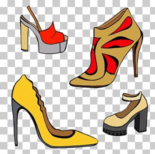 Slipper Brogue Shoe High-heeled Footwear PNG