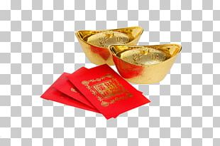Sycee Red Envelope Gold PNG