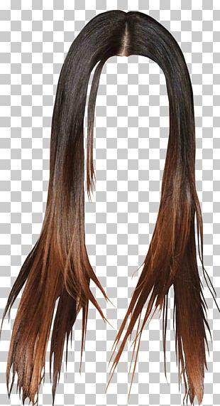 Black Hair Wig Long Hair Brown Hair PNG