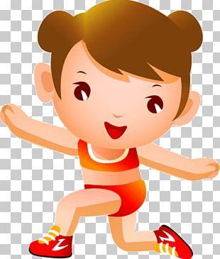Gymnastics Cartoon Illustration PNG
