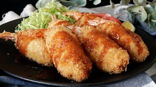 Fried Prawn Stuffing Croquette Tonkatsu Fried Chicken PNG