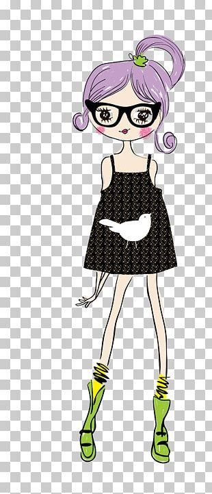 Cartoon Drawing Animation Girl Illustration PNG