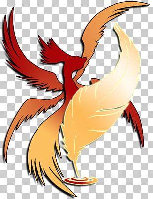 Rooster Bird Phoenix Beak Feather PNG