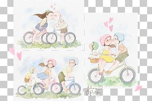 Paper Bicycle Watercolor Painting PNG