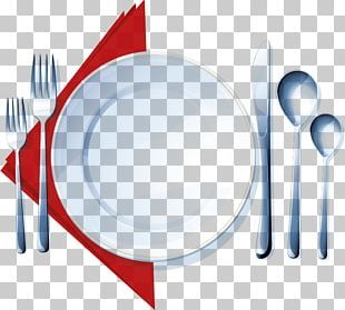 Knife Cloth Napkins Plate Spoon Fork PNG
