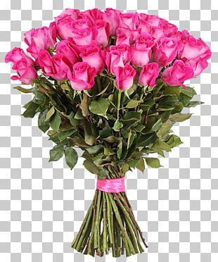Flower Bouquet Garden Roses Pink Birthday PNG