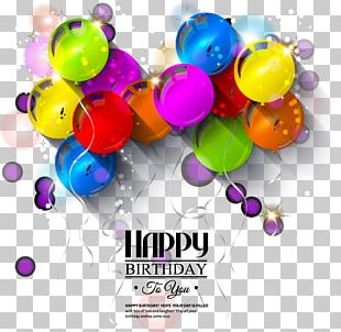Birthday Greeting Card Balloon Illustration PNG