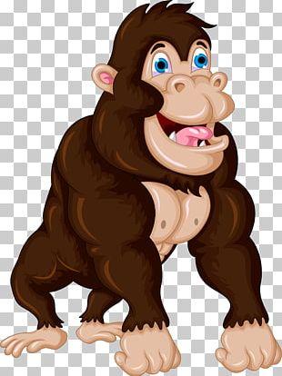 Gorilla Cartoon Chimpanzee PNG
