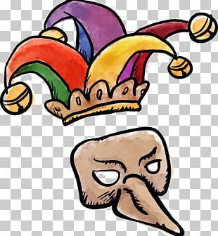 Brazilian Carnival Party Euclidean Mask PNG