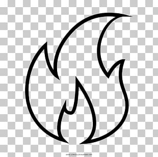 Drawing Fire Black And White Flame PNG