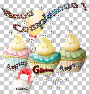 Cupcake Birthday Augur Frosting & Icing PNG