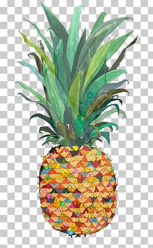Pineapple Piña Colada Upside-down Cake Drawing Painting PNG