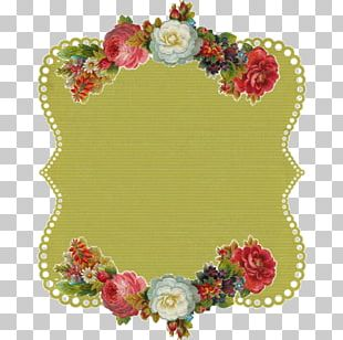 Floral Design Flower Paper Label PNG