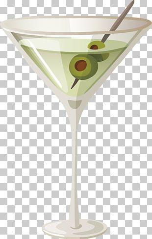 Martini Cocktail Garnish Glass PNG