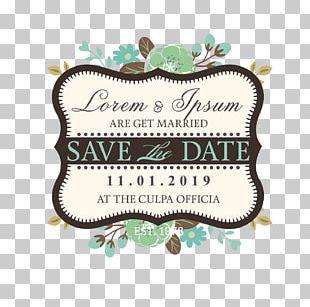 Wedding Invitation Logo Vintage PNG