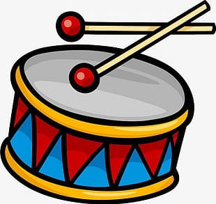 Color Hand-painted Drums PNG