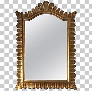 Mirror Frames Gold Metal PNG