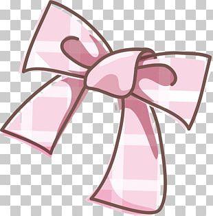 Pink Shoelace Knot Illustration PNG