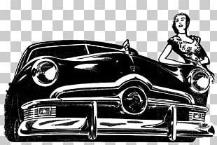Vintage Ford Illustration PNG
