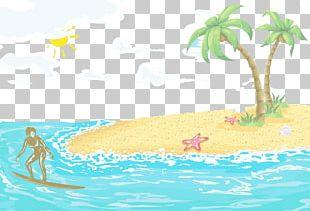 Poster Wind Wave Illustration PNG