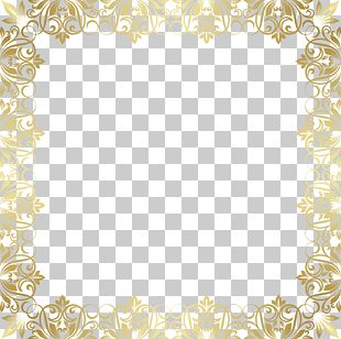 Gold Frame Pattern PNG