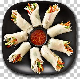 Asian Cuisine Spring Roll Thai Cuisine Indian Chinese Cuisine PNG