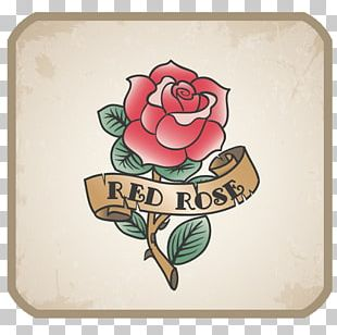Old School (tattoo) Vintage Clothing Bag Vintage Rose Tattoo Company PNG