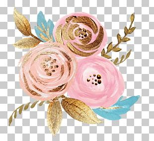 Floral Design Flower Rose Gold PNG
