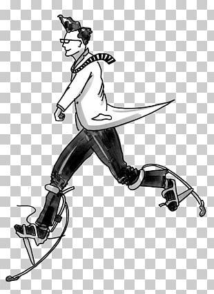 Vertebrate Shoe Character Sketch PNG
