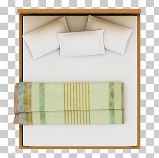 Bed Furniture Floor Plan Room PNG